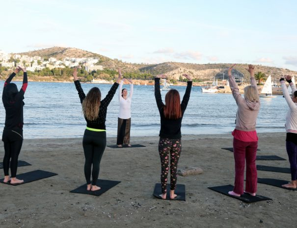 Hatha Yoga at Vouliagmeni beach